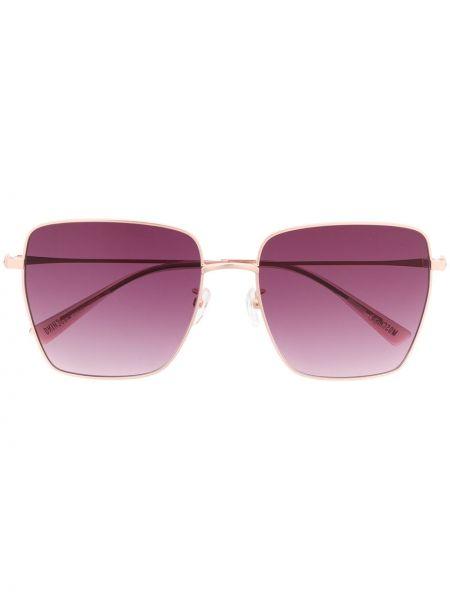 Прямые солнцезащитные очки квадратные металлические хаки Moschino Eyewear