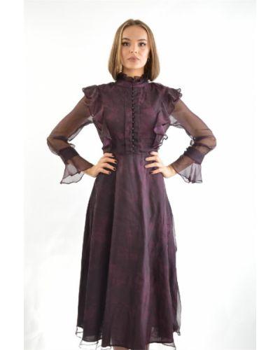 Платье бордовый из вискозы Cavo