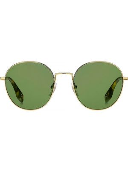 Прямые желтые солнцезащитные очки круглые металлические Marc Jacobs Eyewear