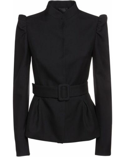 Черная шерстяная куртка Rochas