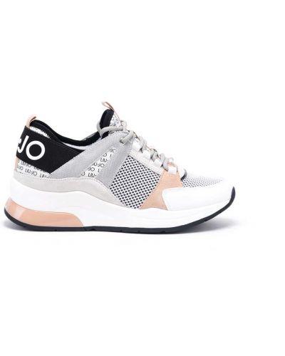 Białe sneakersy skorzane Liu Jo