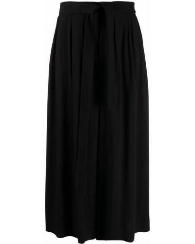 Черные укороченные брюки эластичные свободного кроя Loewe