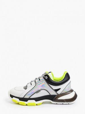 Белые текстильные кроссовки Roobins