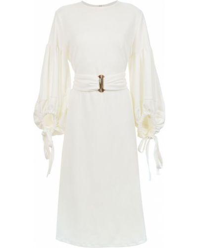 Платье миди с поясом Framed