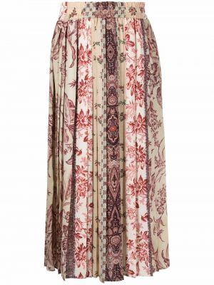 Бежевая юбка из полиэстера Pierre-louis Mascia
