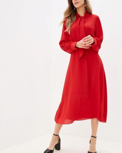 Платье прямое красный Miss Miss By Valentina