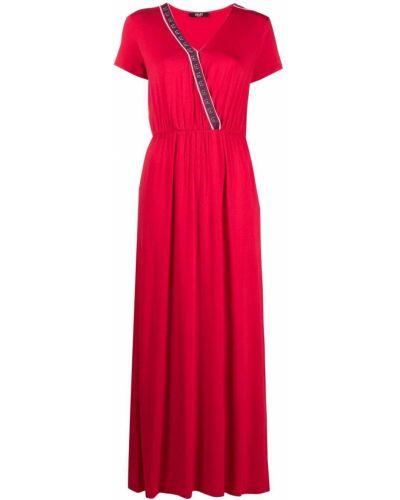 Красное платье мини с вырезом с оборками Liu Jo