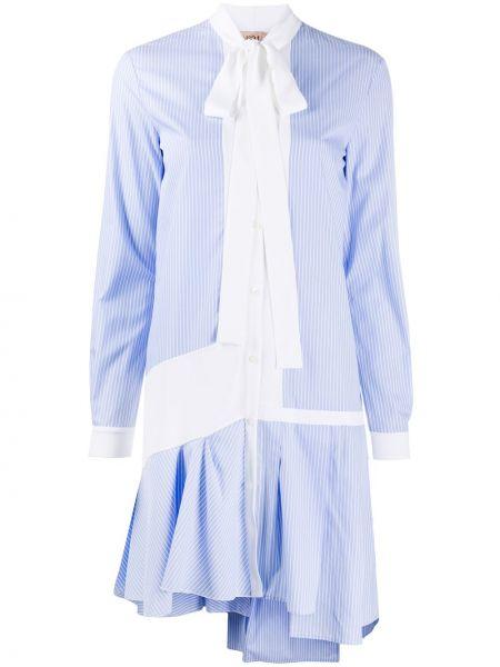 Sukienka asymetryczna w paski z długimi rękawami N°21