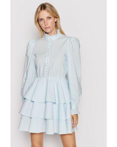 Niebieska sukienka koktajlowa Custommade