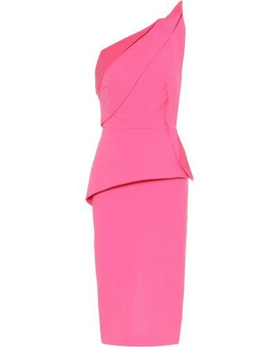 Вечернее платье розовое мини Roland Mouret