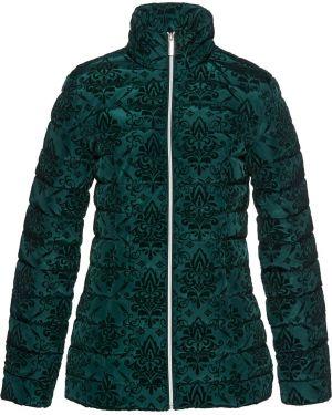 Куртка бархатная зеленая Bonprix