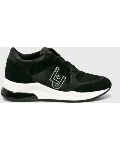 Кроссовки черные текстильные Liu Jo