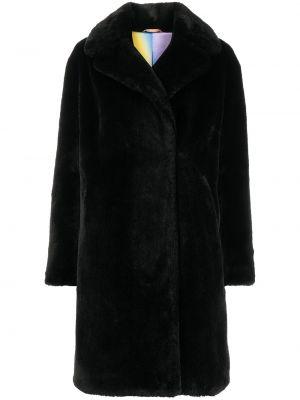 Czarny płaszcz dwurzędowy Apparis