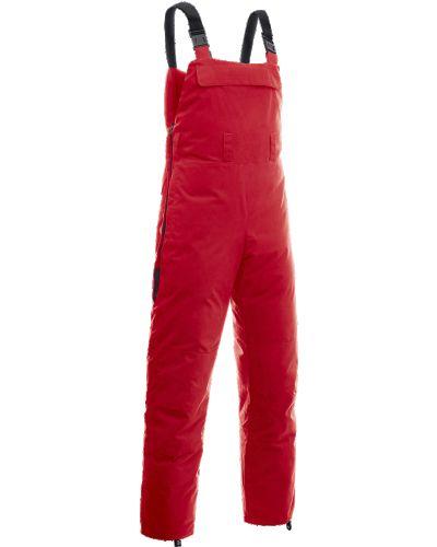 Теплые красные пуховые брюки Bask