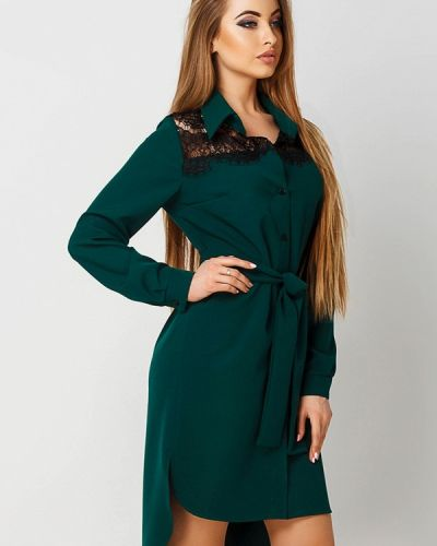 Зеленое платье весеннее Leo Pride