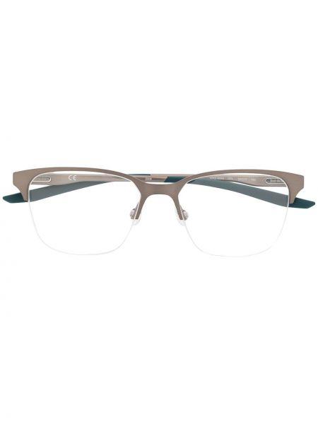 Srebro oprawka do okularów metal plac za pełne Nike