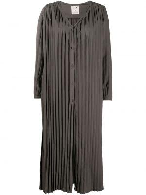 Платье миди с длинными рукавами - серое Lautre Chose