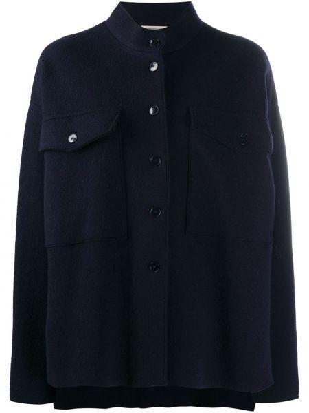 Шерстяная синяя куртка оверсайз Barena