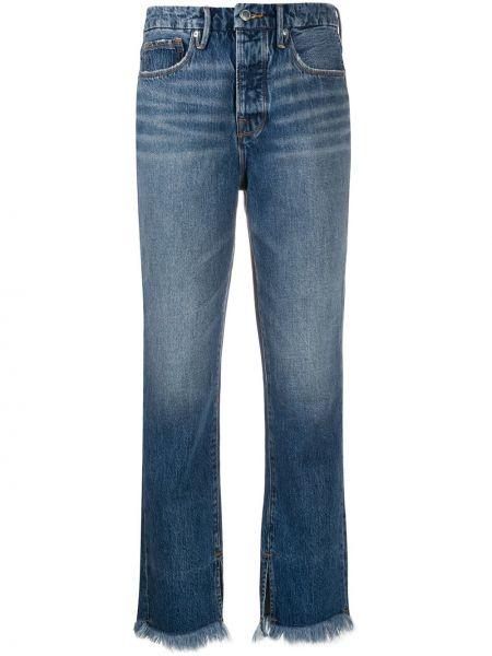 Klasyczne niebieskie jeansy z wysokim stanem Good American