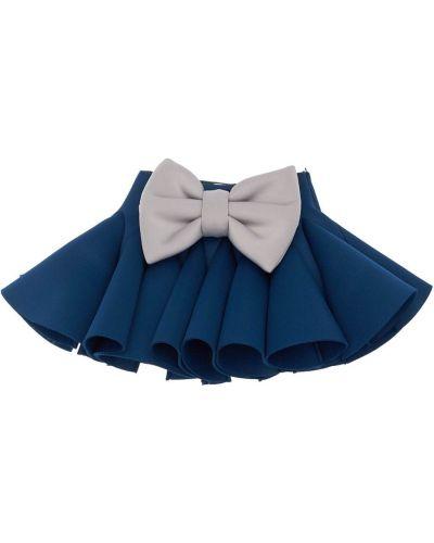 Niebieski spódnica z neoprenu Nikolia