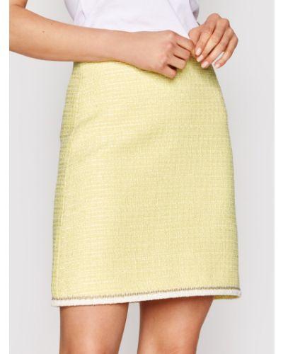 Żółta spódnica trapezowa Luisa Spagnoli