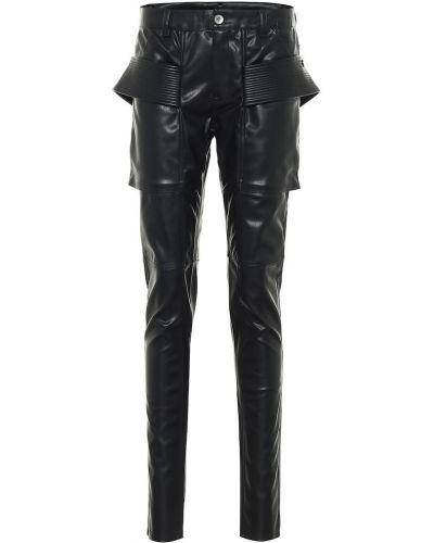 Гранж черные кожаные леггинсы Rick Owens