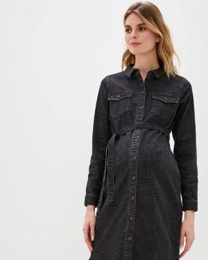 Платье для беременных джинсовое осеннее Mama.licious