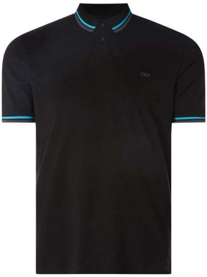 T-shirt bawełniana - czarna S.oliver Red Label