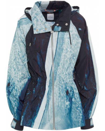 Нейлоновая синяя куртка с капюшоном Paul Smith