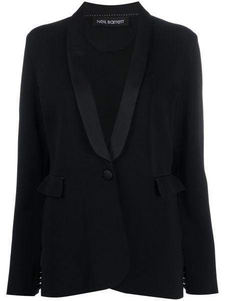 Однобортный черный приталенный пиджак Neil Barrett