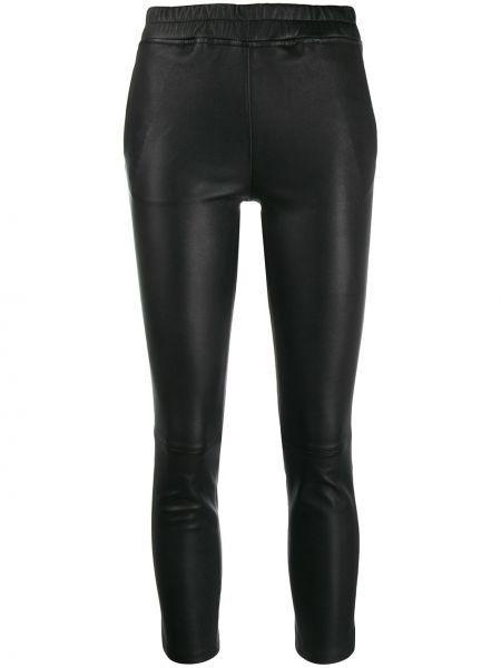 Черные кожаные леггинсы с карманами Arma