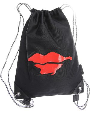 Czarny plecak z nylonu Lulu Guinness