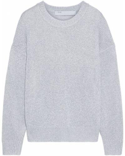 Серебряный вязаный свитер металлический Iro