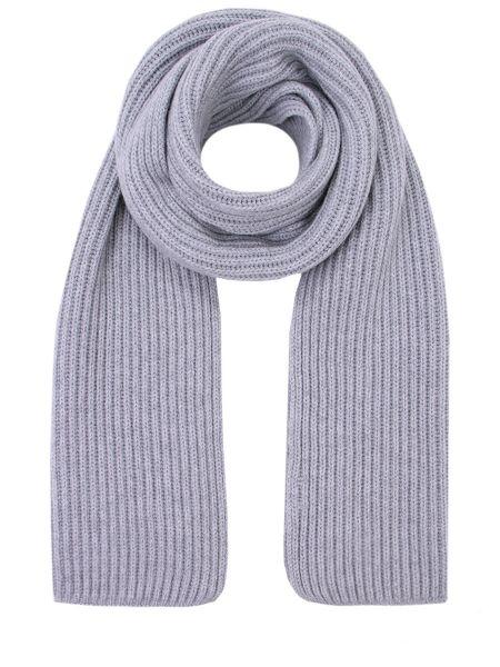 Вязаный кашемировый серый классический шарф вязаный Malo