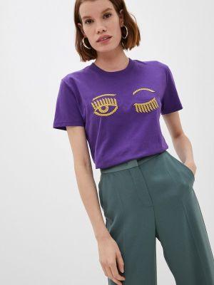 Футболка с короткими рукавами - фиолетовая Chiara Ferragni Collection