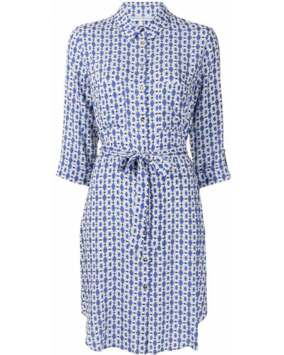 Платье рубашка - синее Heidi Klein