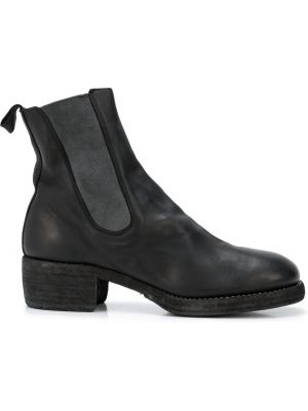 Buty skórzane chelsea czarne Guidi