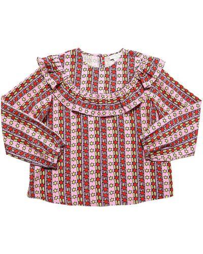 Różowa koszula z printem Stella Mccartney Kids