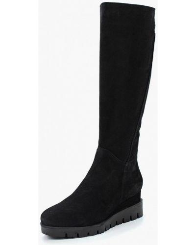 Ботинки на каблуке осенние черные Спартак