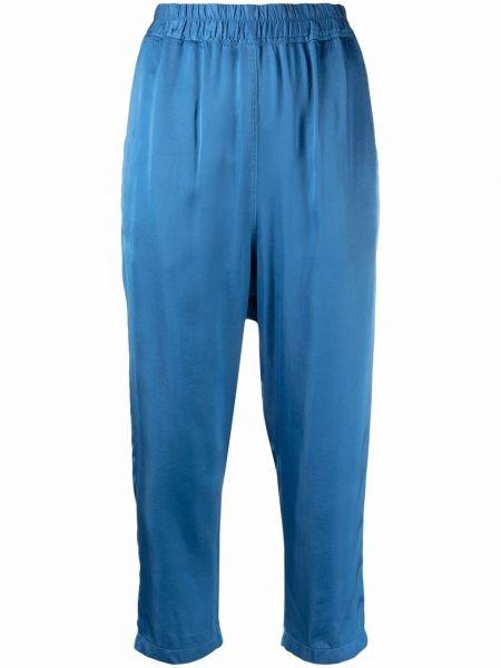 Синие брюки атласные Nili Lotan