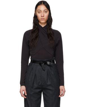 Блузка с длинным рукавом на резинке с воротником-стойкой Isabel Marant