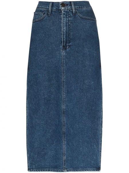 Юбка миди джинсовая с вырезом 3x1