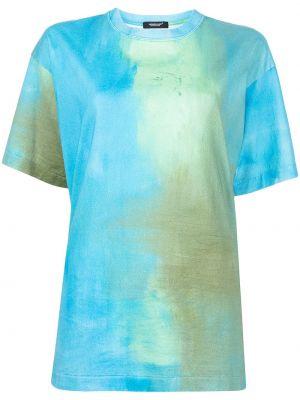 Прямая хлопковая синяя футболка Undercover