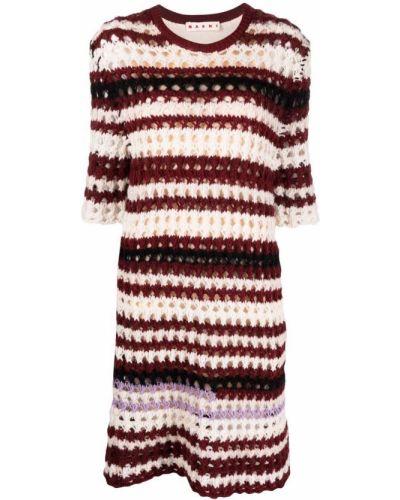 Шерстяное платье миди - красное Marni