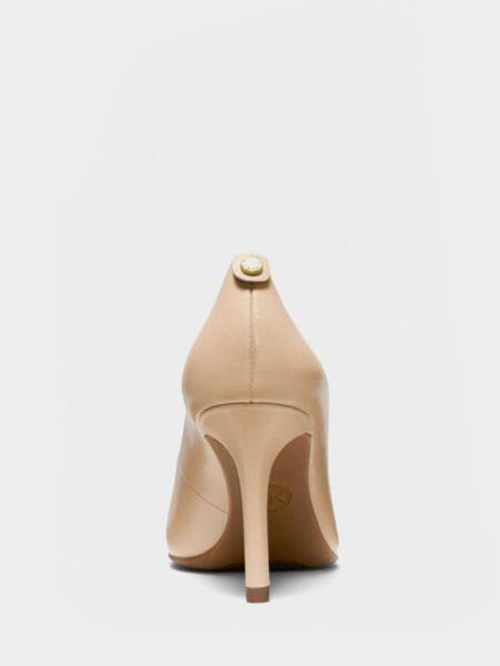 Кожаные бежевые туфли-лодочки с острым носом Michael Kors