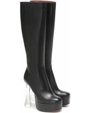 Ботинки на платформе на шпильке черные Amina Muaddi