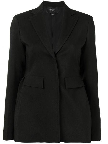 Шерстяной черный классический пиджак с баской Giambattista Valli