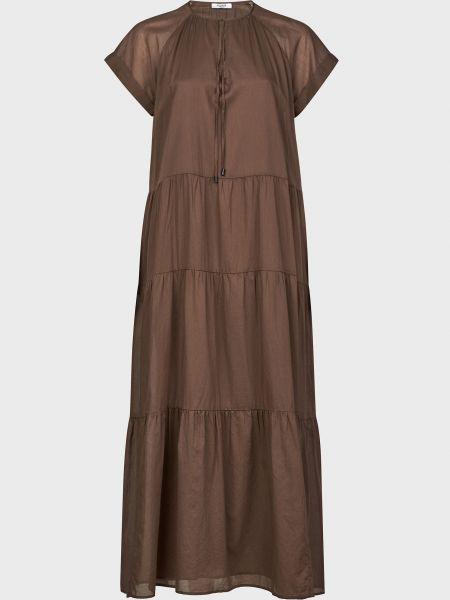 Хлопковое платье - коричневое Peserico