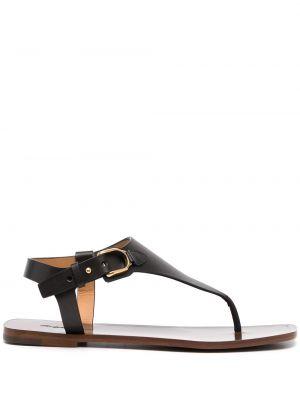 Czarne sandały z klamrą Ralph Lauren Collection