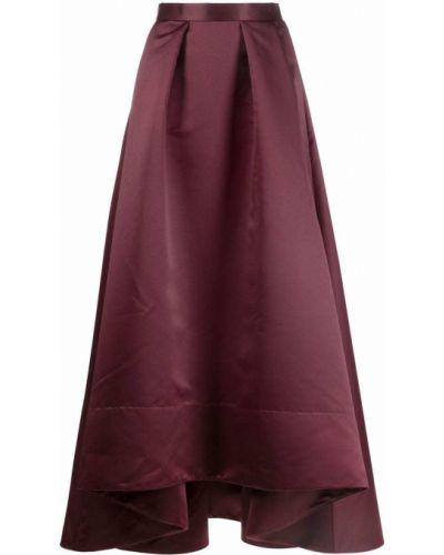 Długa spódnica z wiskozy - fioletowa Pinko